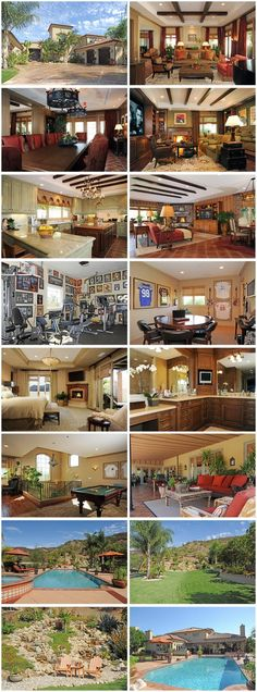 Photo tour of rock star Meat Loaf's Calabasas,CA  home. Celebrity real estate. #california