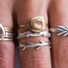Sticks and stones. simple jewelry.