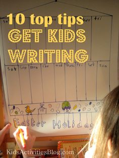 Get kids writing ... | Great ideas like getting kids to be in charge of writing, reading and ticking off shopping lists; making scrapbooks with picture, photos, diary entries; writing down the score when playing games...