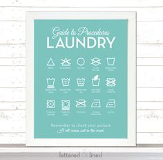 Guide to Procedures Laundry  11x14 print  by letteredandlined, $23.50