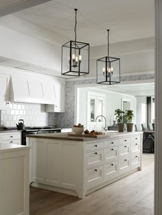 kitchen lights and layout  Love it!