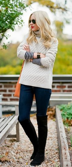 This season it's all about style with comfort! Make sure to keep warm in a cozy turtleneck. Pair with jeans or layer over a dress for a chic fall look.