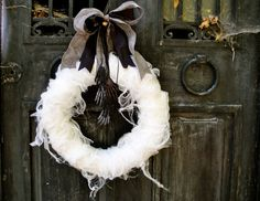 gauze wreath (minus the creepy hands)