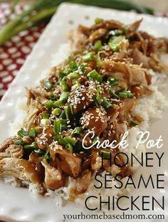 Crock Pot Honey Sesame Chicken