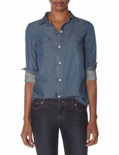 obr denim, fashion, style, chambray lovin, denim shirts
