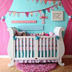 """My prince did come. His name is Daddy."" Chevron chic nursery design!"