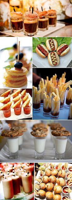 Cute mini appetizers