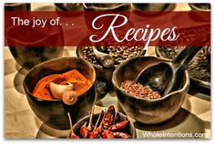 There's a simple joy in finding recipes for food allergies and #SpecialDiets. Find gluten-free and candida-diet recipes at WholeIntentions.com.