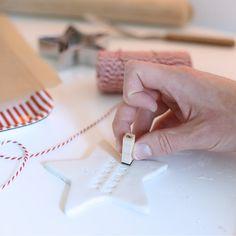 DIY: Air-drying clay Christmas ornaments