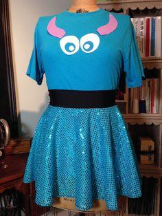 SULLY Inspired Running Costume Skirt & T-Shirt! Perfect for Disney Races!