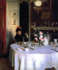The Breakfast Table (also known as Violet Sargent) John Singer Sargent - circa 1883
