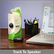 Portable speaker - convert anything into a speaker!