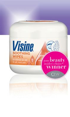 visine eye makeup remover for sensitive eyes (#realsimple recommends- great for contact wearers)