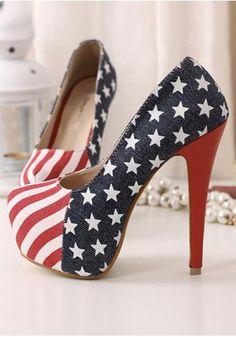 flag heelsplatform, juli heel, women flag, flag high, high heel