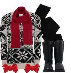 """""""Bomber Boots & Bows"""" by qtpiekelso on Polyvore"""