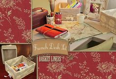 French Desk Set: Basket Liners
