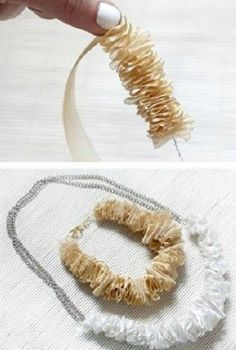 Easy Ribbon Necklace - Want to do it yourself? click on the image!