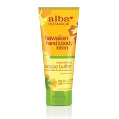 "Alba Botanica Replenishing Cocoa Butter Hawaiian Hand & Body Lotion (""This vegan lotion smells divine, but  since I like really rich hand creams, I use this more as a body lotion"" - Angela @ Vegangela.com)"