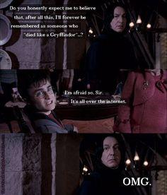 Snape's face.   I die.