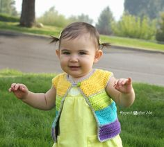 Repeat Crafter Me: Cap Sleeve Cardigan Crochet Free Pattern