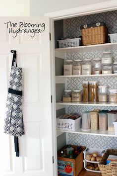 SUPER Stenciled Pantry Project