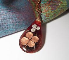Real Four-Leaf Clover Necklace