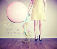 Attach streamers, feathers, tinsel, and any other long stringy sparkly things to them. | 32 Unexpected Things To Do With Balloons