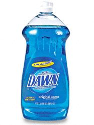 Different Ways to Use Dawn for Household needs: Use it to bathe your dogs and get rid of fleas, Use Dawn to repel ants, Use it for homemade ice packs, Use it to get stains out of carpet, Use it to clean your bathroom, and Use it to clean automotive tools.