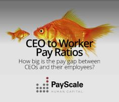 PayScale compared the salaries of 100 CEOs to those of their respective workers.