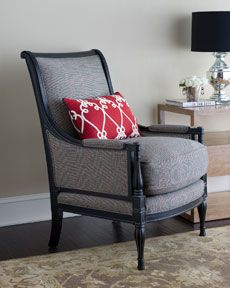 great chair (black, grey, red accent)
