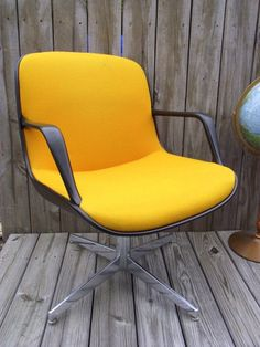 RARE Eames Pollock Style Office Chair - YELLOW - Just Fantastic. $169.00, via Etsy.
