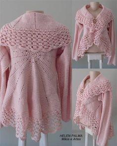 sweater, pattern, crochet romant, crochet translations