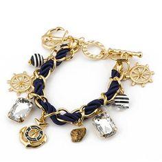 Nautical Anchor Charm Bracelet