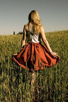 DIY: waistband bow skirt