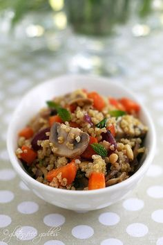 Millet with Carrots, Mushrooms, and Mint