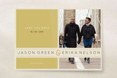 REVEL: Subtle Chevron Save The Dates