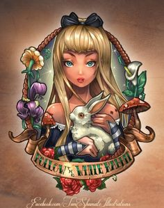 Disney Princess Pinup Girl Tattoo – Alice in Wonderland!