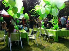 Tori and Dean Throw Liam an Outrageous Ghost Busters boy Birthday Party here are the decorations. balloon party, birthdays, balloon cluster, birthday idea, decorations, balloons, parti idea, black, boy birthday parties