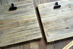 Old Blue Silo: mini pallets from shims.