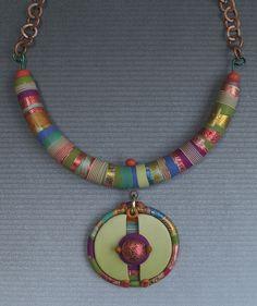 Stripey polymer with split pendant | Flickr - Photo Sharing!