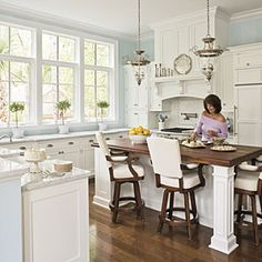 my favorite color/kitchen/style (excpet the barstools) SouthernLiving.com