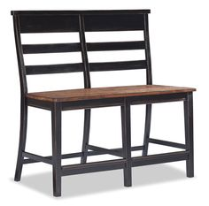 Black and Honey Finish Counter Height Bench - Grand Home Furnishings   0225766