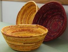 fabric bowls. Did 1st one today!big enough to hold paperclips on my desk!