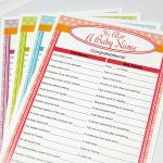 Personalized Baby Shower Trivia Game