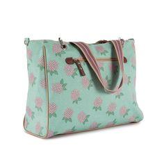 Pink Lining Bramley Tote Hydrangea Changing Bag | Diaper Bag