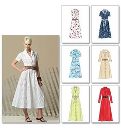 Pattern: McCall's V4769 Misses'/Miss Petite Shirt Dress In 2 Lengths and Bias Sash Size: DD (12-18) Availability: OOP Condition: Uncut, Factory Folded Swapper: Konnie Kapow Will swap for: patterns, fabric,trims/ notions, buttons, books and more...