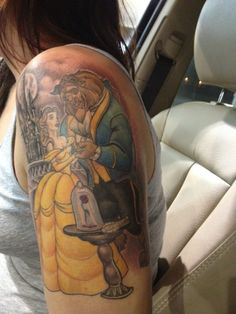 Beauty and the Beast #Tattoos #Girls #Disney