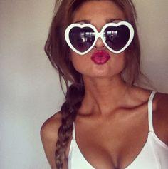 Heart sunglasses<3