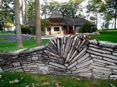 One of the incredible Earl Young Mushroom Houses in Charlevoix, Michigan