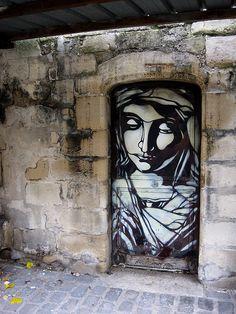 Side door, Saint Germain Church in Vitry-sur-Seine, Ìle de France - France